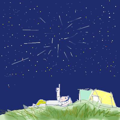 ペルセウス座流星群 えごころまごころ