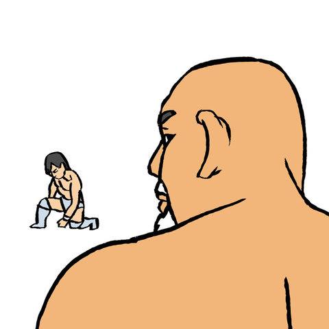 武藤敬司似顔絵イラスト画像