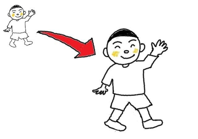 5課 移動 来ます スーザンの 日本語教育 手描きイラスト