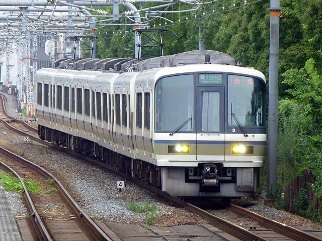 221系@大阪城公園駅
