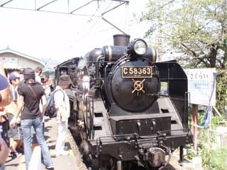 長瀞駅でもアマチュアカメラマンの人気者です