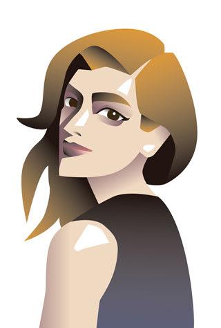 ローラの似顔絵