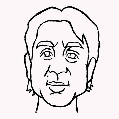 ムロツヨシ似顔絵イラスト画像