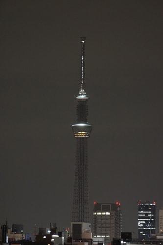 東日本大震災の復興への思いを込めてライティング