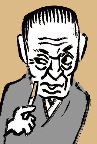 本田宗一郎の似顔絵