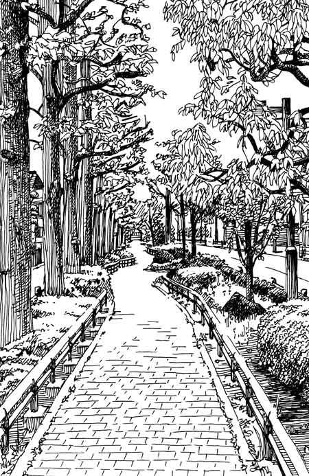 ペン画の風景画2
