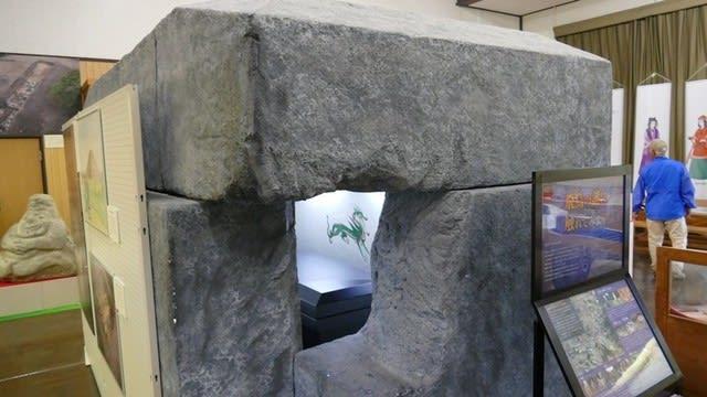 キトラ古墳石棺の模型