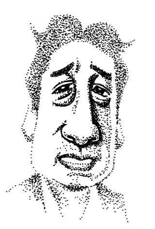 ルー大柴の似顔絵イラスト画像