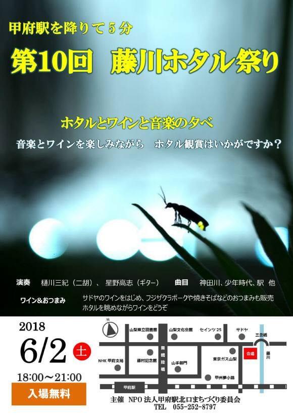 第10回藤川ホタル祭り