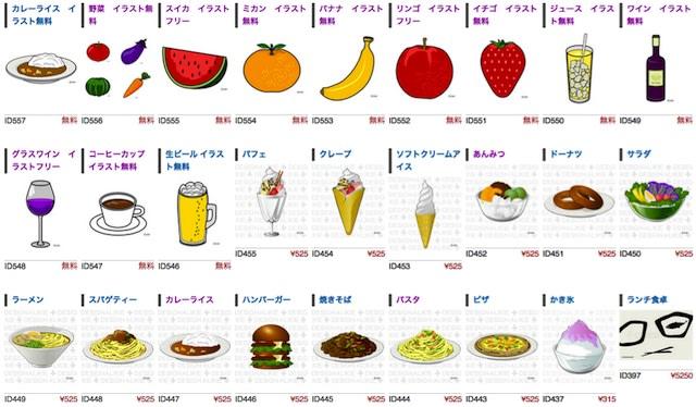 食べ物系のイラスト無料素材も多数あり デザインとイラストとアバター