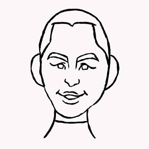 山下真湖選手の似顔絵イラスト画像