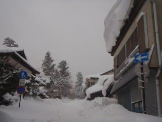 雪ずり注意!