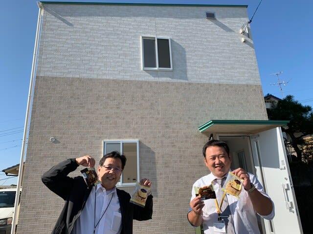 岡山県にて開催した新築完成見学会の時に頂いた差し入れの写真です。