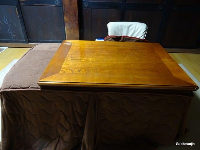 ダイニングテーブルのコタツ化改...