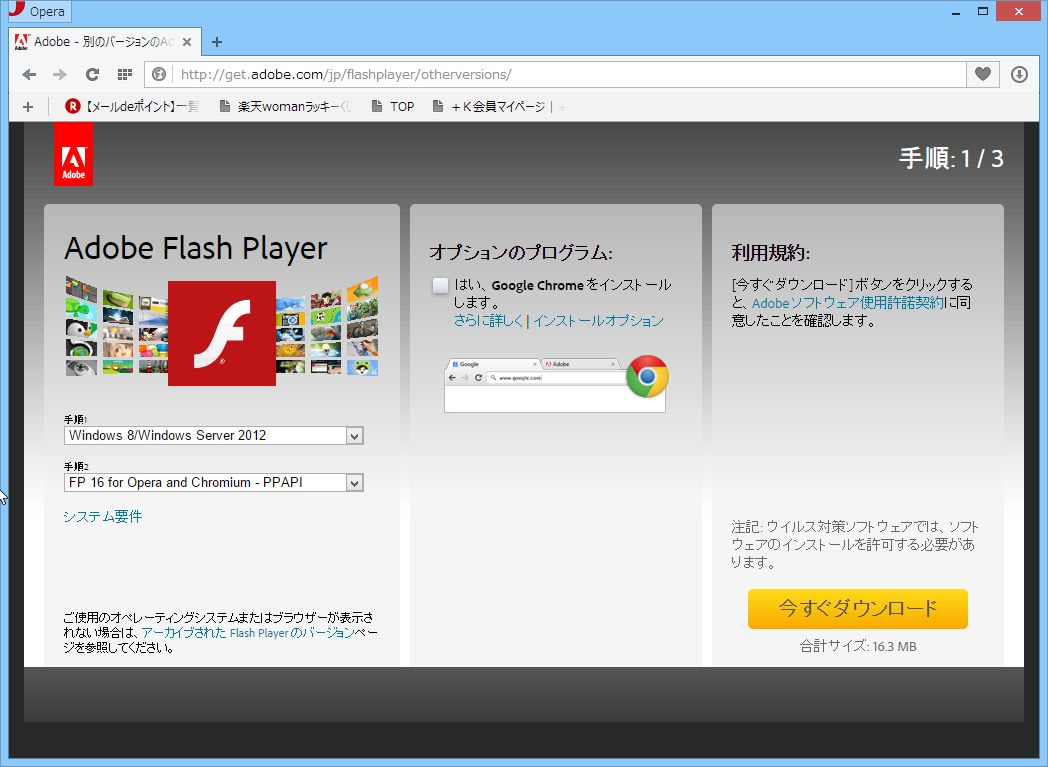Opera with flash player