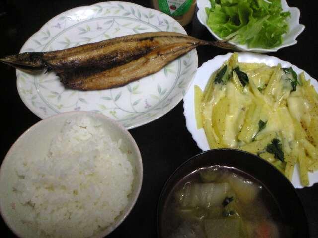 次女の夕食