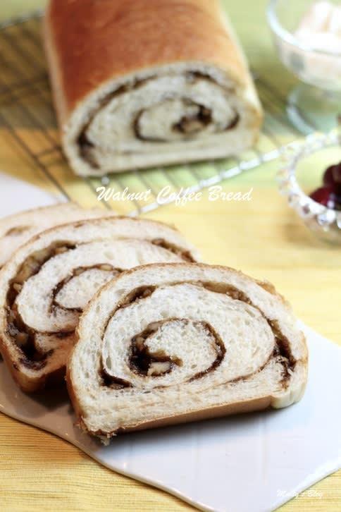 くるみコーヒーの渦巻き食パン - マイティの Awesome Cooking