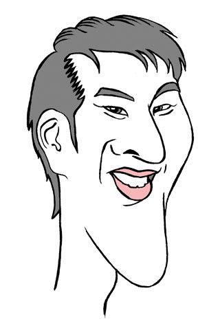 瀬戸大也選手の似顔絵イラスト画像