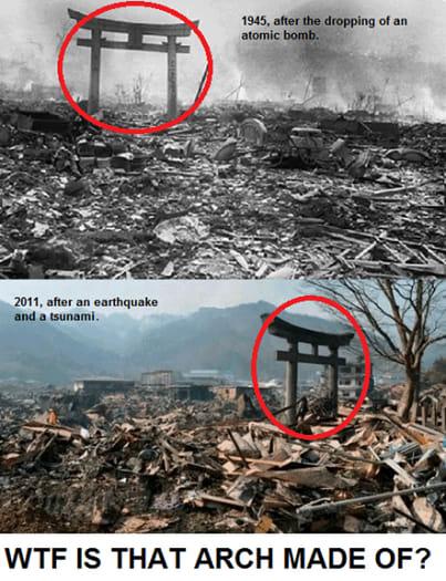 d3ccd027c303 下側の写真は、3・11大震災の大津波でも残った街中の鳥居)