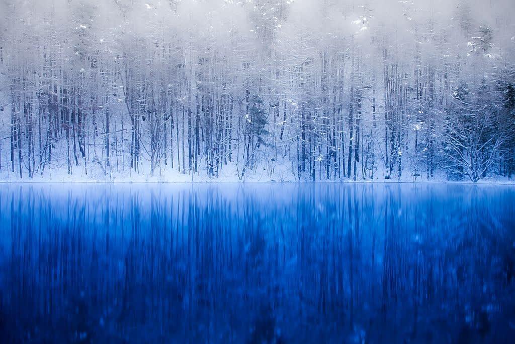 御射鹿池(冬景色)