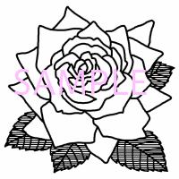 バラ2花白黒イラスト素材 素材屋イラストブログ
