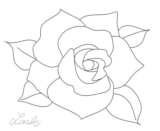 バラの塗り絵 ちょっとお絵描き