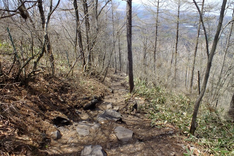 飯盛山から野辺山方面への道