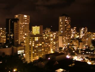 ハワイ1日目夜景