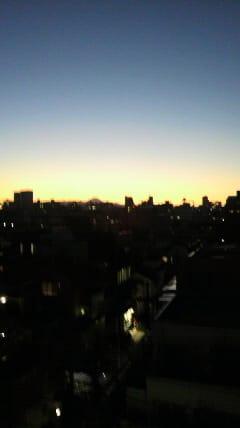 年明けの富士山。