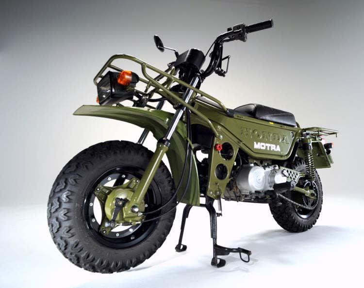 モトラ、ホンダの50ccミリタリー調のクラッシック・原付バイク ランシモ