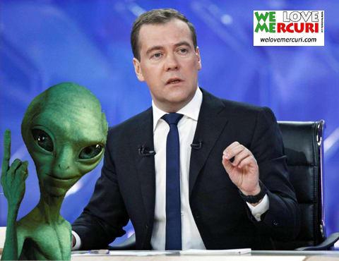 「宇宙人は地球に来ている!」 露メドヴェージェ …