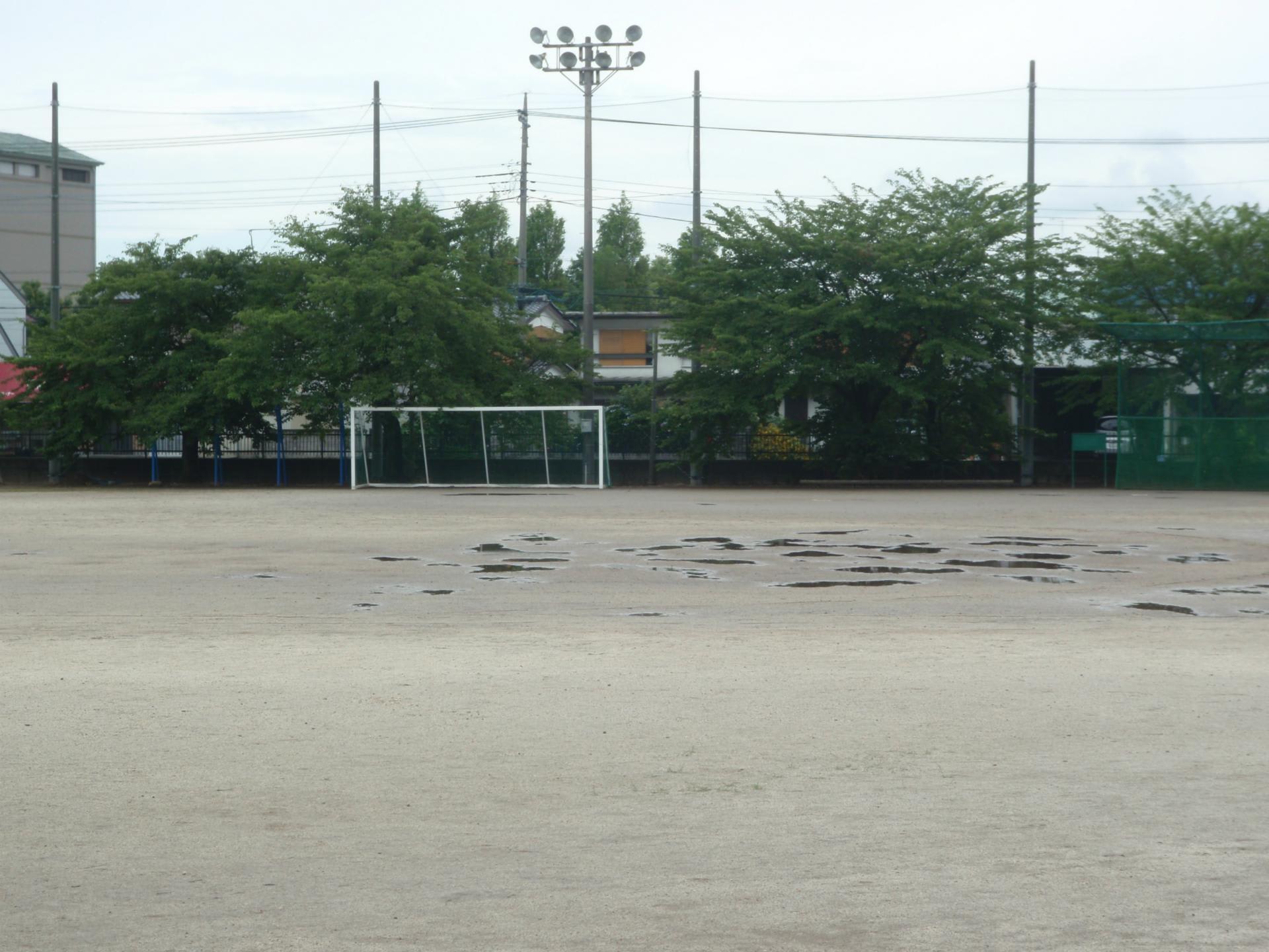 梅雨時の校庭 - 千代田中ブログ