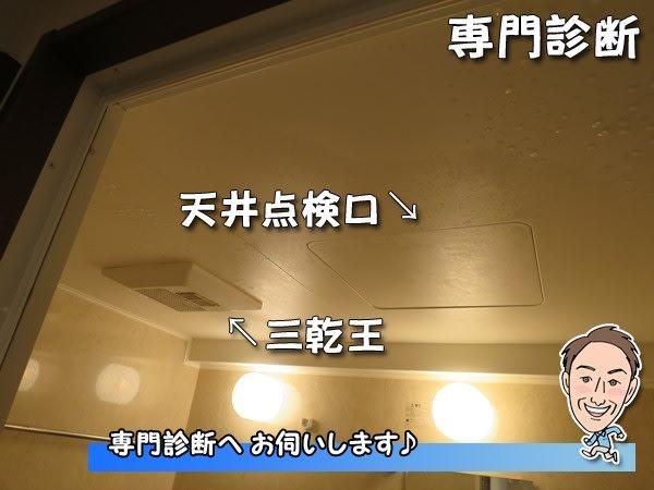 ユニットバス天井_三乾王