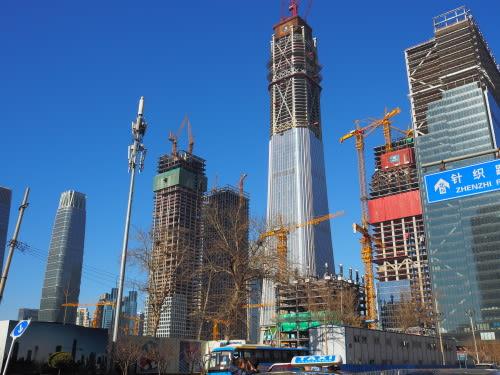 高層ビル建築ラッシュ!の北京 -...