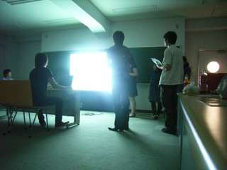 20080526後藤ゼミでプレゼンテーションをしている写真