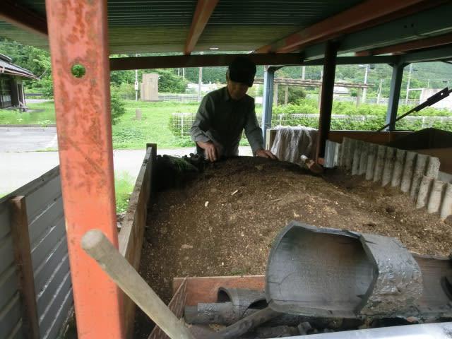 竹炭作り準備