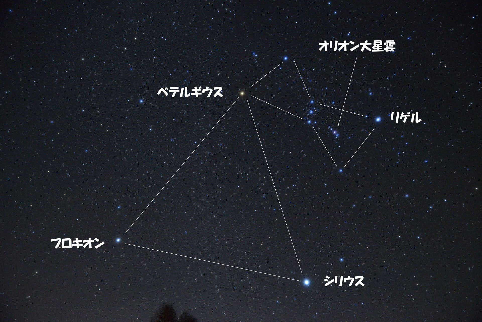 の 三角形 冬 大