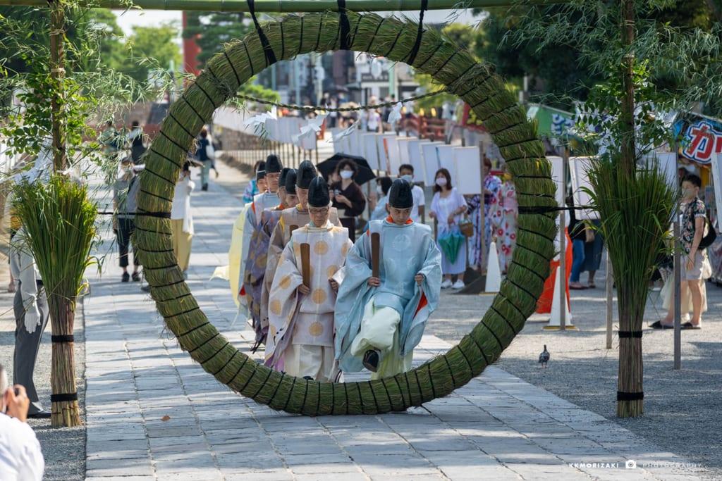 夏越祭 【鶴岡八幡宮】 令和二年、コロナ禍の雪洞祭 - 鎌倉への付箋