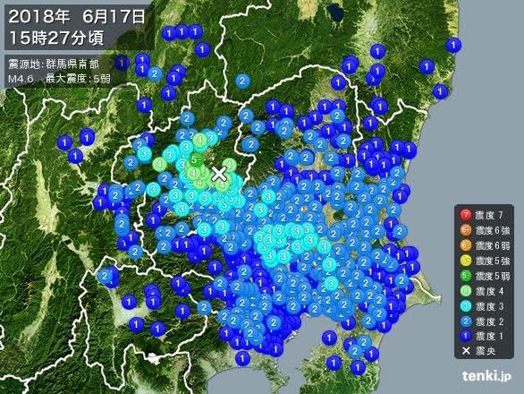 地震 群馬
