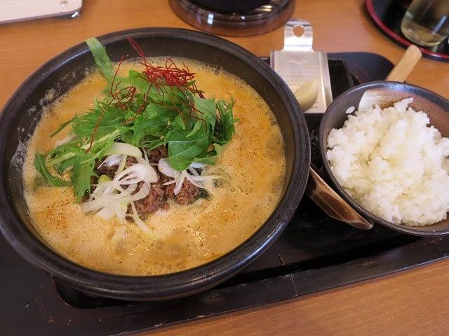 石焼き担々麺+ライス(小)
