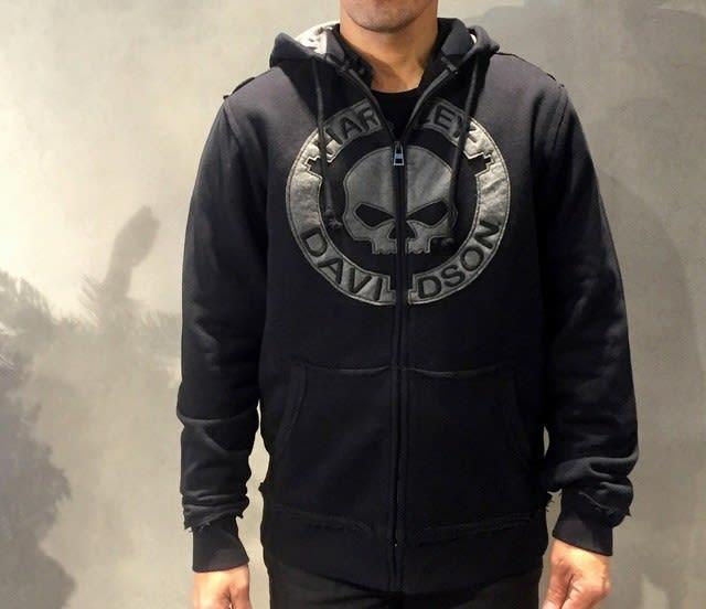 Harley-Davidson Men/'s Willie G Skull Full Zip Hoodie 96494-18VM