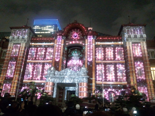 東京駅で光の祭典、再び
