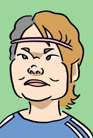 阪口夢穂の似顔絵