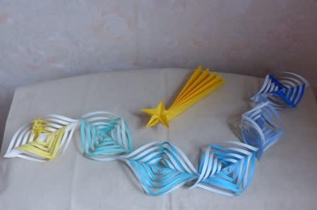 七夕 七夕飾り おりがみ : お盆飾り 折り紙の画像