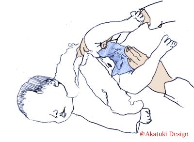 赤ちゃんのオナラ(うんち)の出し方2・お尻を刺激