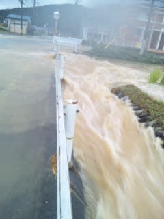 台風15号の大雨