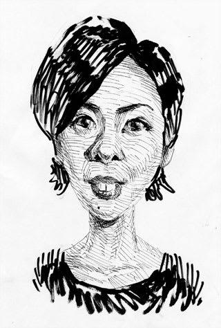 竹内結子似顔絵イラスト画像