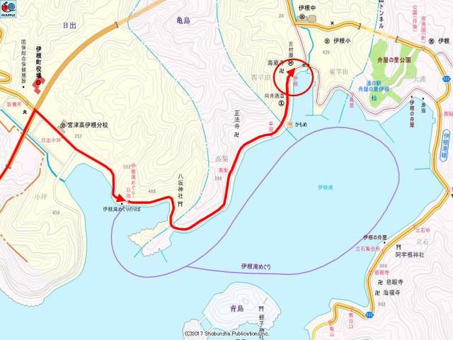 伊根付近の地図