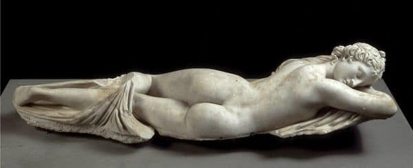 ヘルマフロディトス【わたしの里・彫像】