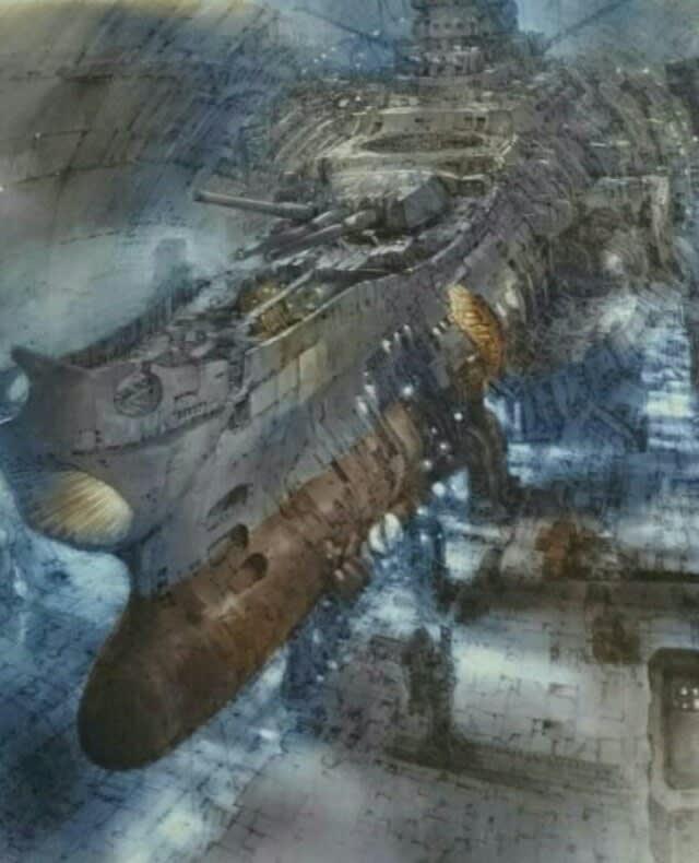 宇宙戦艦ヤマト2202 海底ドックでの壁紙